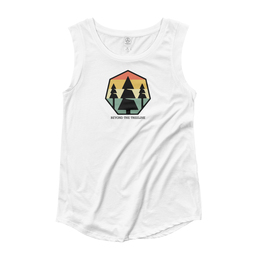 Tree Crest R Ladies Sleeveless - Beyond The Treeline Clothing - Hiking, Mountains, Camping, Outdoors, Shirts, Hoodie