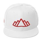 White Altai Snapback - Beyond The Treeline Clothing - Hiking, Mountains, Camping, Outdoors, Shirts, Hoodie