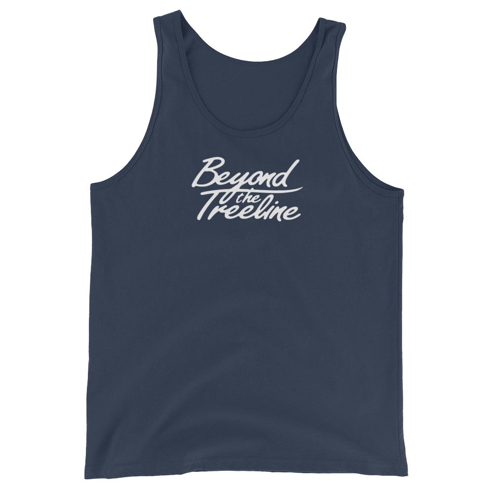 Cursive Tank - Beyond The Treeline Clothing - Hiking, Mountains, Camping, Outdoors, Shirts, Hoodie