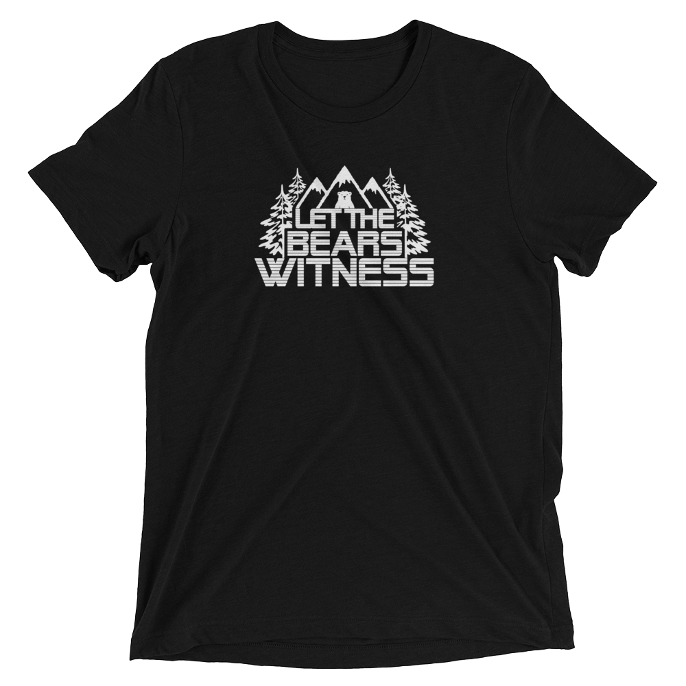 Bear Witness Triblend - Beyond The Treeline Clothing - Hiking, Mountains, Camping, Outdoors, Shirts, Hoodie