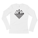 Canoe Bear Ladies Longsleeve - Beyond The Treeline Clothing - Hiking, Mountains, Camping, Outdoors, Shirts, Hoodie