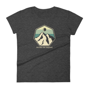 Mountain Crest B Ladies Tee - Beyond The Treeline Clothing - Hiking, Mountains, Camping, Outdoors, Shirts, Hoodie