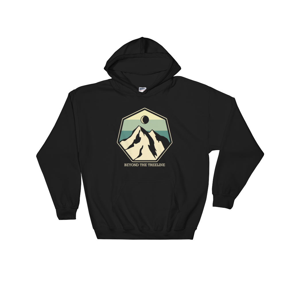 Mountain Crest B Hoodie - Beyond The Treeline Clothing - Hiking, Mountains, Camping, Outdoors, Shirts, Hoodie