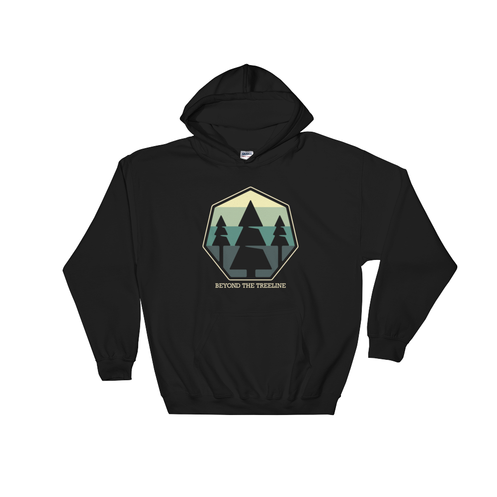Tree Crest B Hoodie - Beyond The Treeline Clothing - Hiking, Mountains, Camping, Outdoors, Shirts, Hoodie