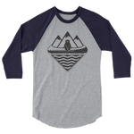 Canoe Bear 3/4 - Beyond The Treeline Clothing - Hiking, Mountains, Camping, Outdoors, Shirts, Hoodie