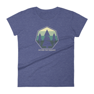 Tree Crest B Ladies Tee - Beyond The Treeline Clothing - Hiking, Mountains, Camping, Outdoors, Shirts, Hoodie