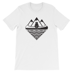 Canoe Bear Tee - Beyond The Treeline Clothing - Hiking, Mountains, Camping, Outdoors, Shirts, Hoodie