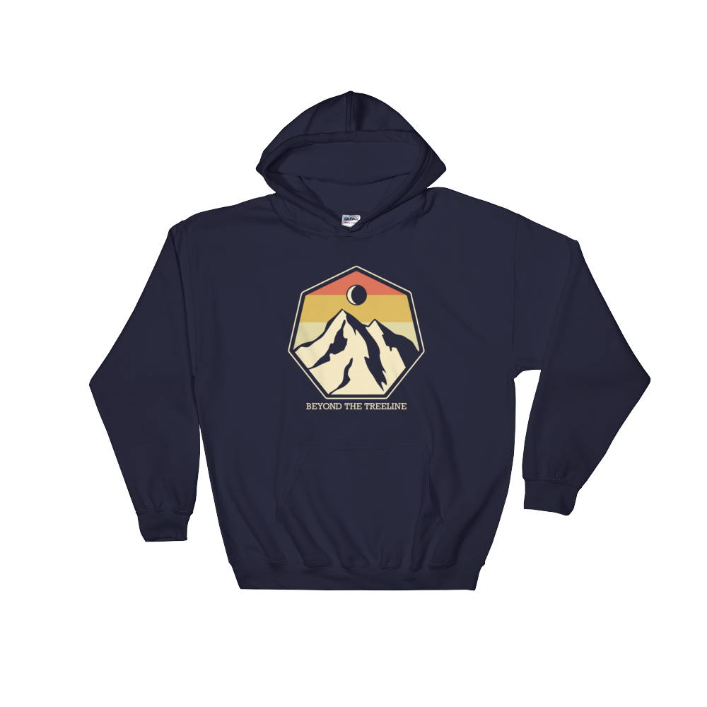 Mountain Crest R Hoodie - Beyond The Treeline Clothing - Hiking, Mountains, Camping, Outdoors, Shirts, Hoodie