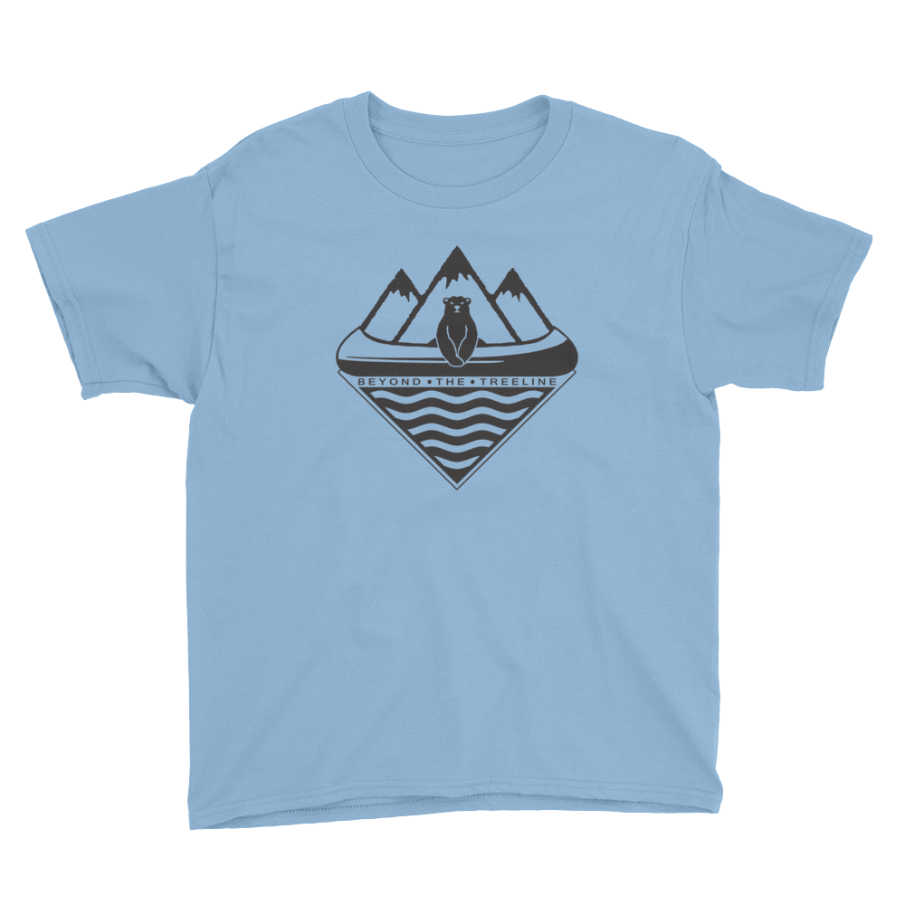 Kids Canoe Bear Tee - Beyond The Treeline Clothing - Hiking, Mountains, Camping, Outdoors, Shirts, Hoodie