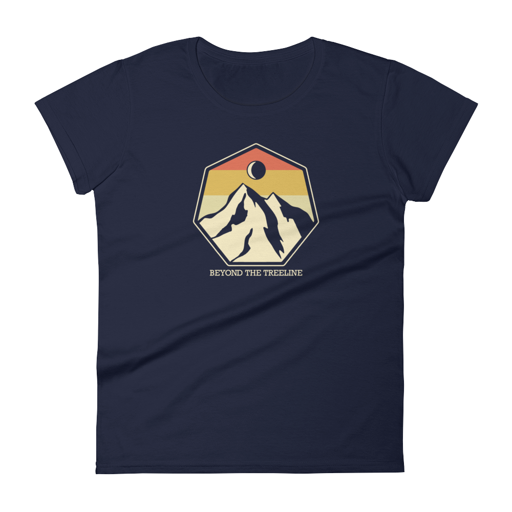 Mountain Crest R Ladies Tee - Beyond The Treeline Clothing - Hiking, Mountains, Camping, Outdoors, Shirts, Hoodie