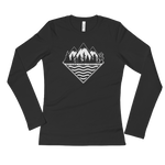 Treeline Ladies Longsleeve - Beyond The Treeline Clothing - Hiking, Mountains, Camping, Outdoors, Shirts, Hoodie