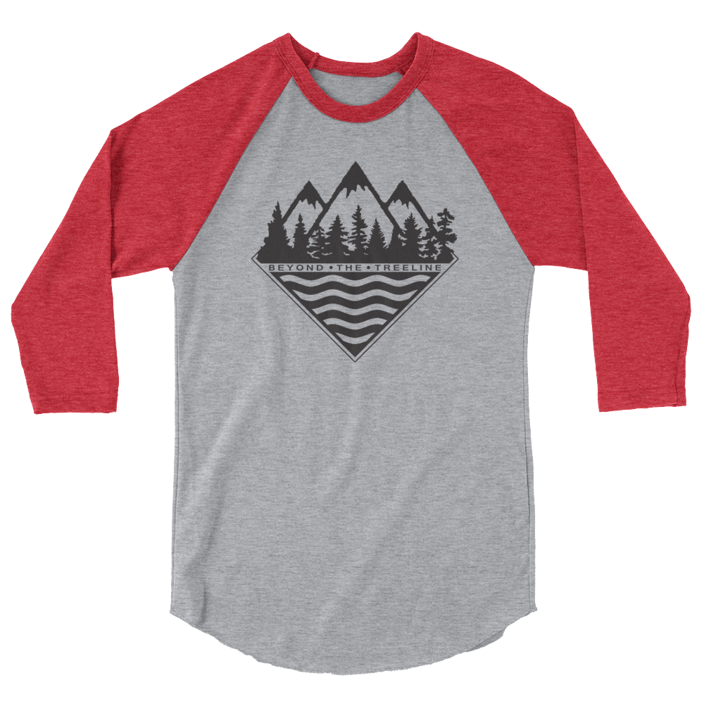 Treeline 3/4 - Beyond The Treeline Clothing - Hiking, Mountains, Camping, Outdoors, Shirts, Hoodie
