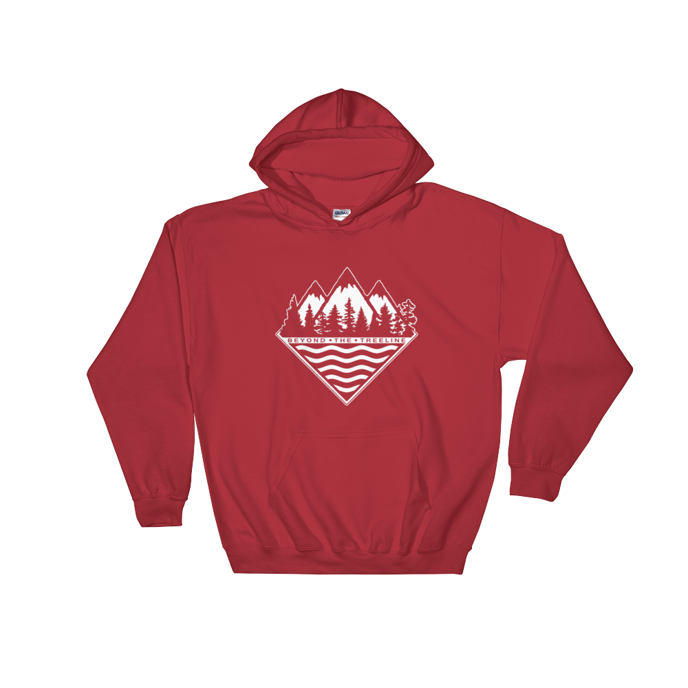 Treeline Hoodie - Beyond The Treeline Clothing - Hiking, Mountains, Camping, Outdoors, Shirts, Hoodie