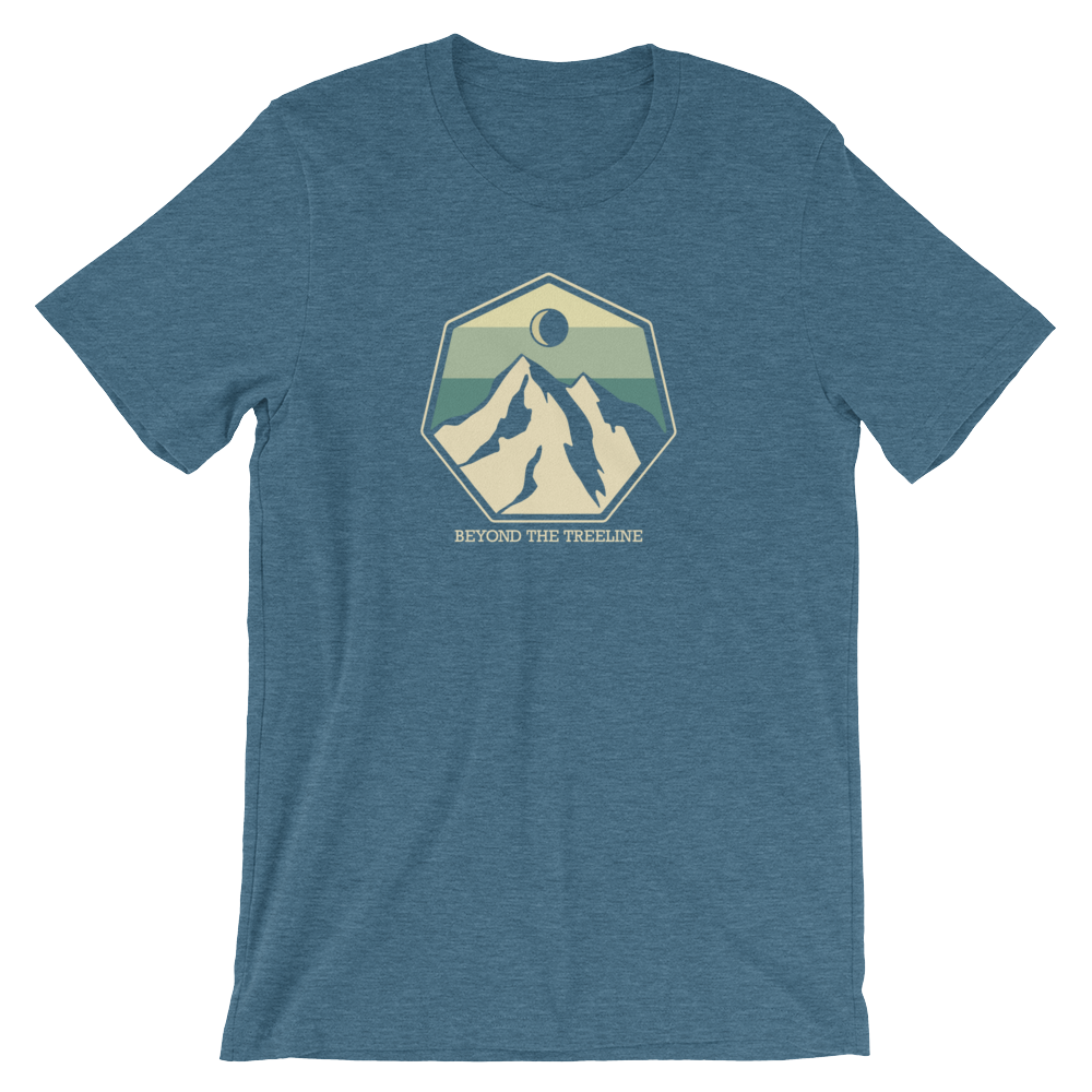 Mountain Crest B Tee - Beyond The Treeline Clothing - Hiking, Mountains, Camping, Outdoors, Shirts, Hoodie
