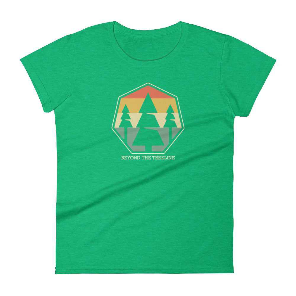 Tree Crest R Ladies Tee - Beyond The Treeline Clothing - Hiking, Mountains, Camping, Outdoors, Shirts, Hoodie