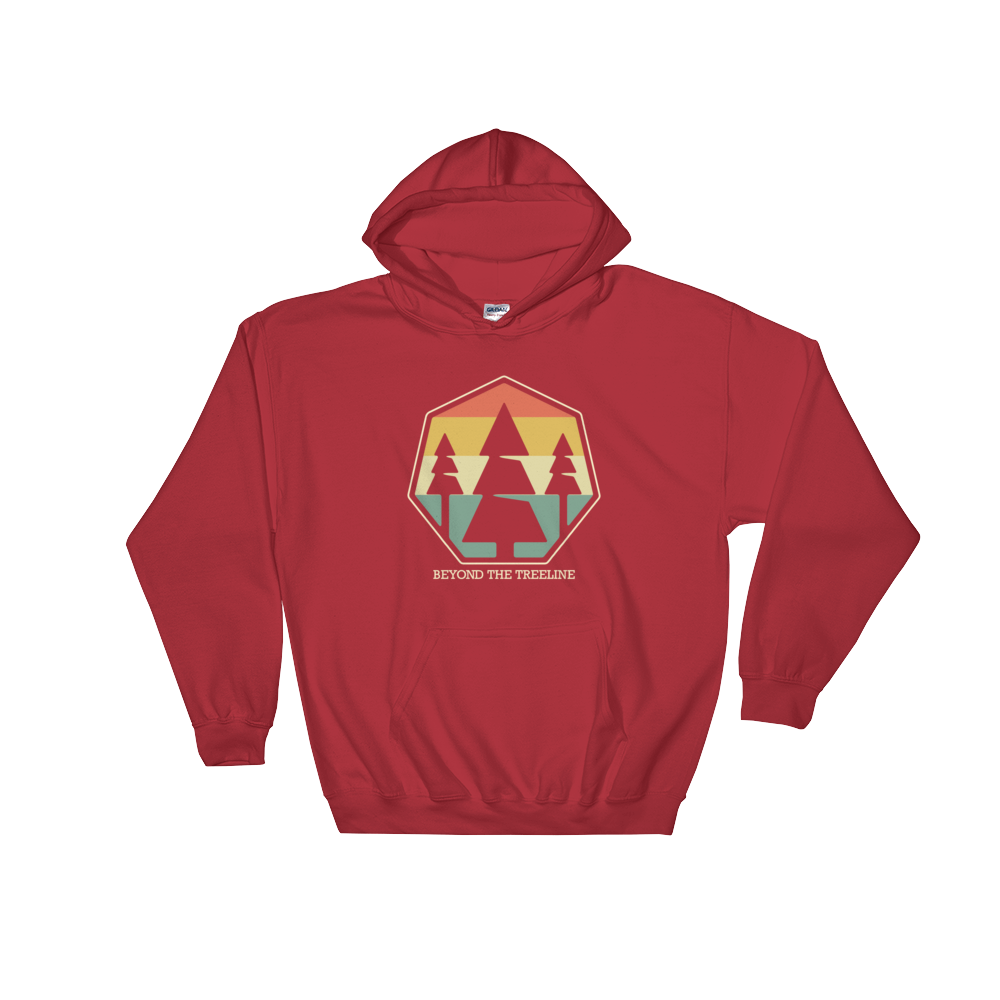 Tree Crest R Hoodie - Beyond The Treeline Clothing - Hiking, Mountains, Camping, Outdoors, Shirts, Hoodie
