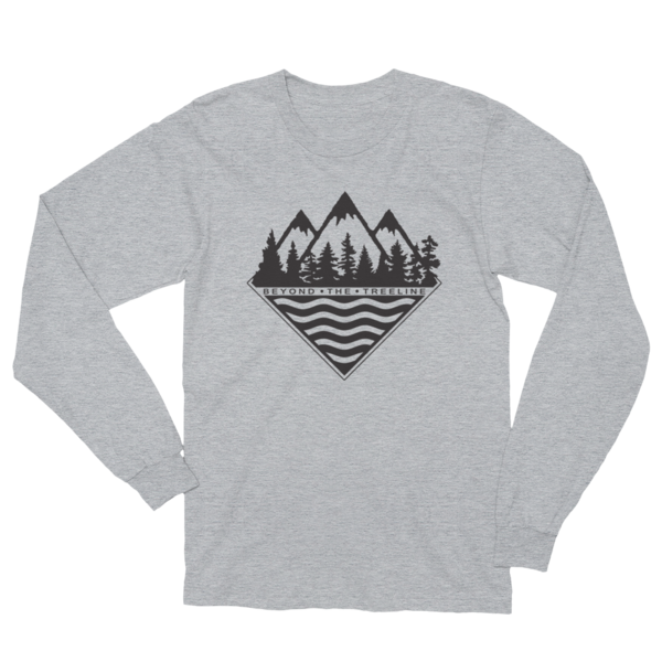 Treeline Longsleeve - Beyond The Treeline Clothing - Hiking, Mountains, Camping, Outdoors, Shirts, Hoodie