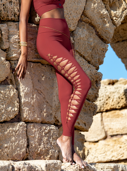 Yoga Legging For Women In Orange Coral