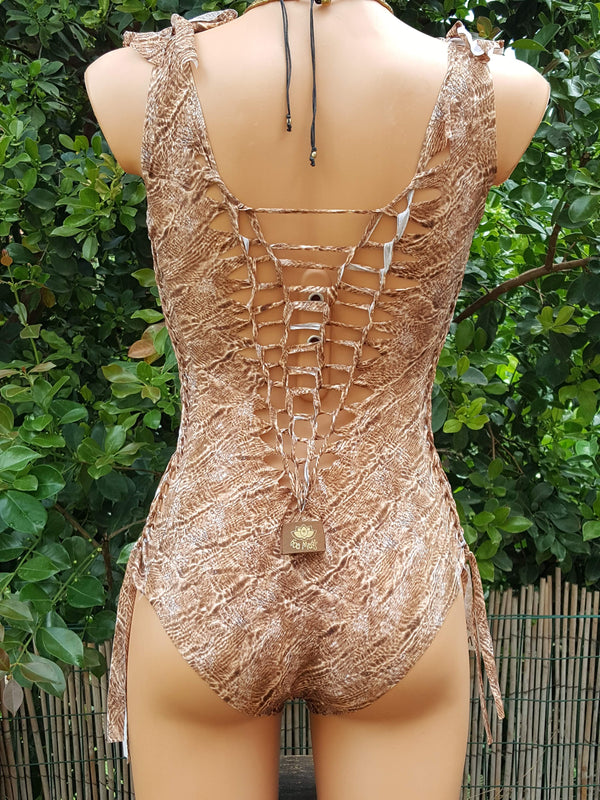Clearance - Leopard Swimsuit For Women (Lycra Fabric) - goa-magic-fashion