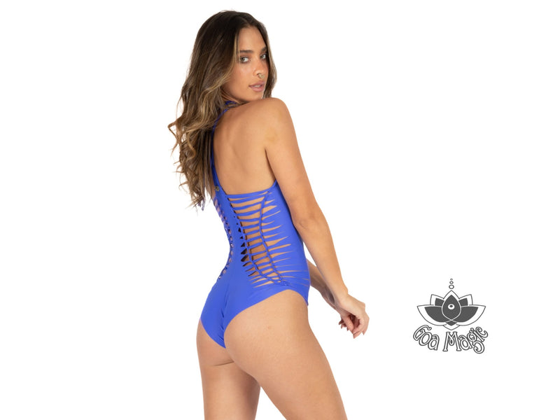 "Royal Blue One Piece Swimsuit For Women ""DORIN"" (Lycra Fabric) - One Piece - [By Goa Magic Fashion]"