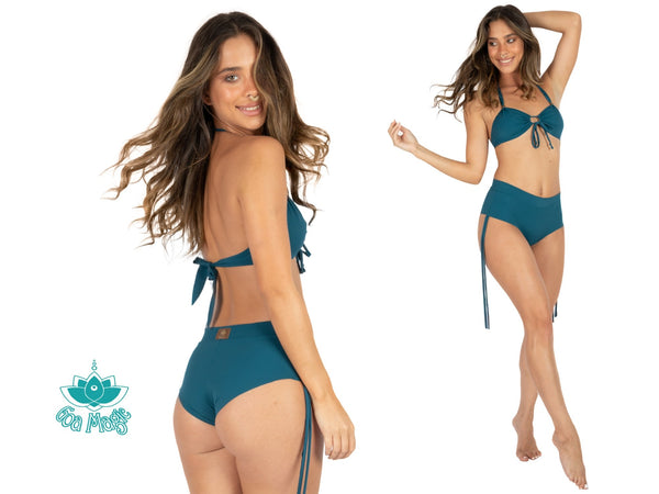 "Teal Cheeky Booty Bikini Set For Women ""ANGIE"" - goa-magic-fashion"
