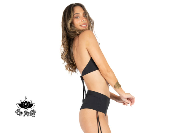"Black Cheeky Booty Bikini Set For Women ""ANGIE"" - goa-magic-fashion"