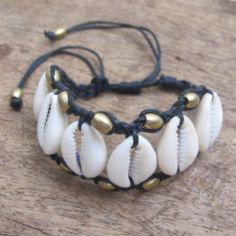 Sunset Shell Cuff Bracelet, Body Jewelry BY Artjuna Jewelry - goa-magic-fashion