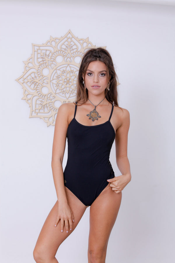 "Black One Piece Swimsuit For Women ""HILI"" - One Piece - [By Goa Magic Fashion]"