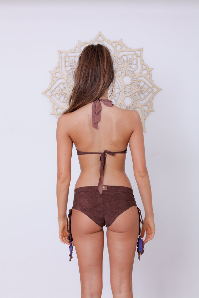 "Brown ""Dreamcatcher"" Bikini Set For Women - goa-magic-fashion"