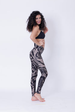 Yoga Legging For Women In Tribal Print - Yoga Pants - [By Goa Magic Fashion]