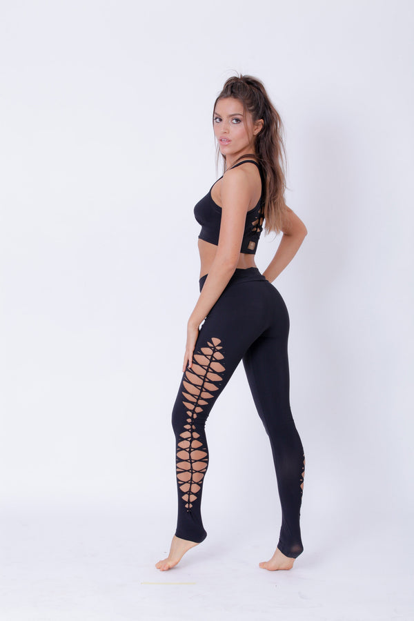 Yoga Legging For Women In Black - Yoga Pants - [By Goa Magic Fashion]