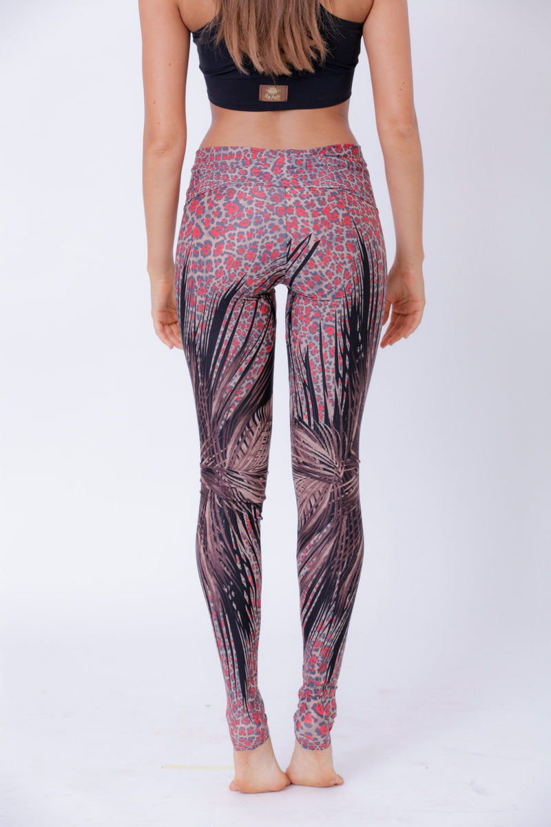 Yoga Legging For Women In Feathers Print - Yoga Pants - [By Goa Magic Fashion]