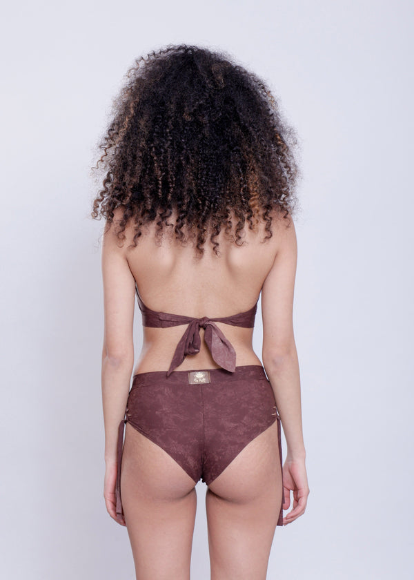 "Shabby Brown High Waisted Bikini Set For Women ""NELLY"" - goa-magic-fashion"