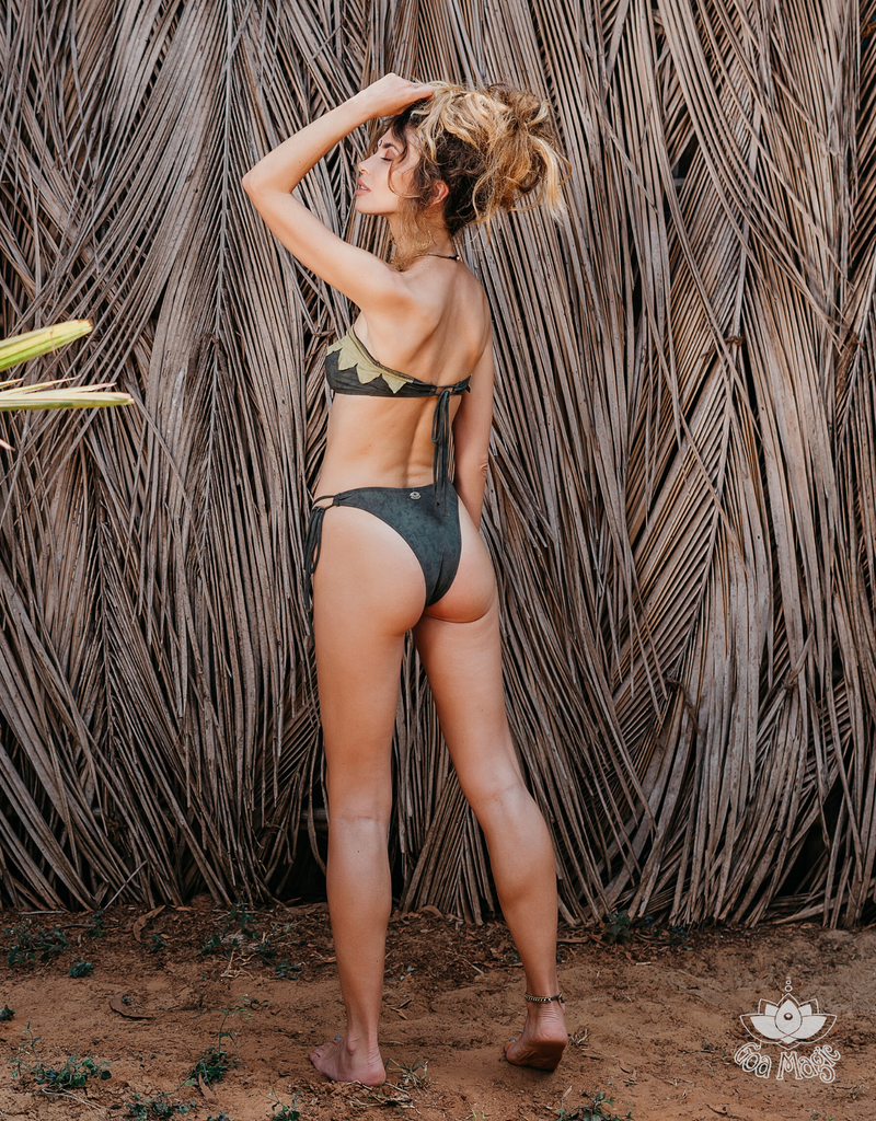 Green Strapless Bikini Set For Women - goa-magic-fashion