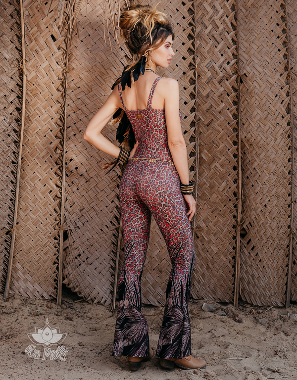 Limited Edition!! Sleeveless Catsuit For Women in Leopard Print