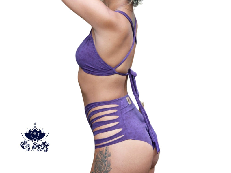 Purple High Waisted Bikini Set For Women - Bikini - [By Goa Magic Fashion]