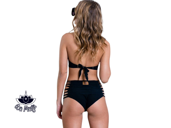 Black High Waisted Bikini Set For Women - Bikini - [By Goa Magic Fashion]