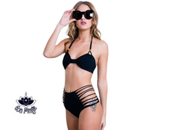 Black High Waisted Bikini Set For Women - goa-magic-fashion