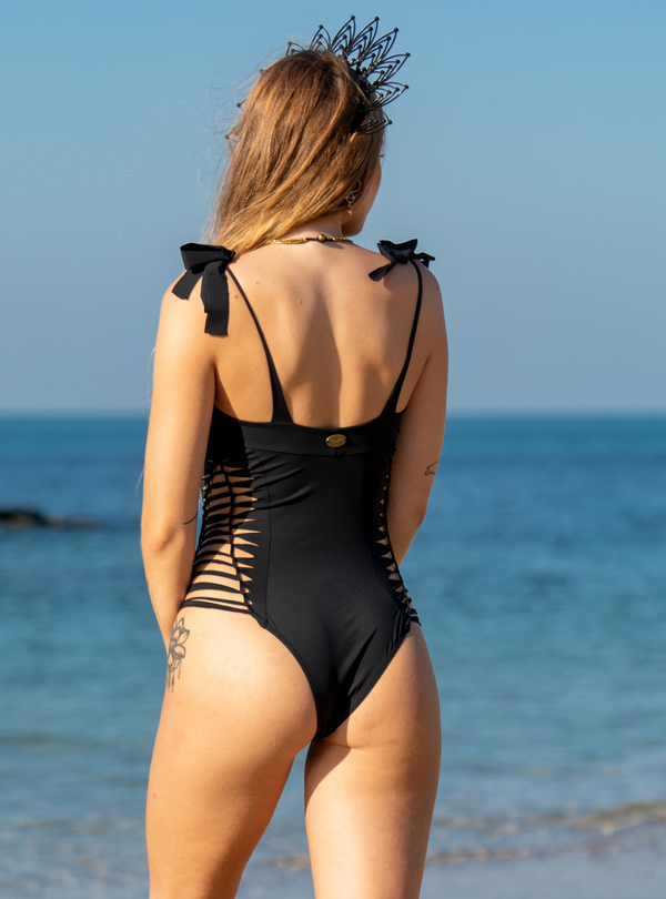 "Black One Piece Swimsuit For Women ""MIA"" (Lycra Fabric)"