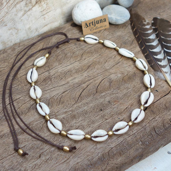 Cowrie Shell Choker Necklace, Body Jewelry BY Artjuna Jewelry - Necklaces - [By Goa Magic Fashion]