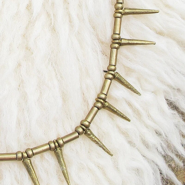 Spike Necklace, Body Jewelry BY Artjuna Jewelry - goa-magic-fashion