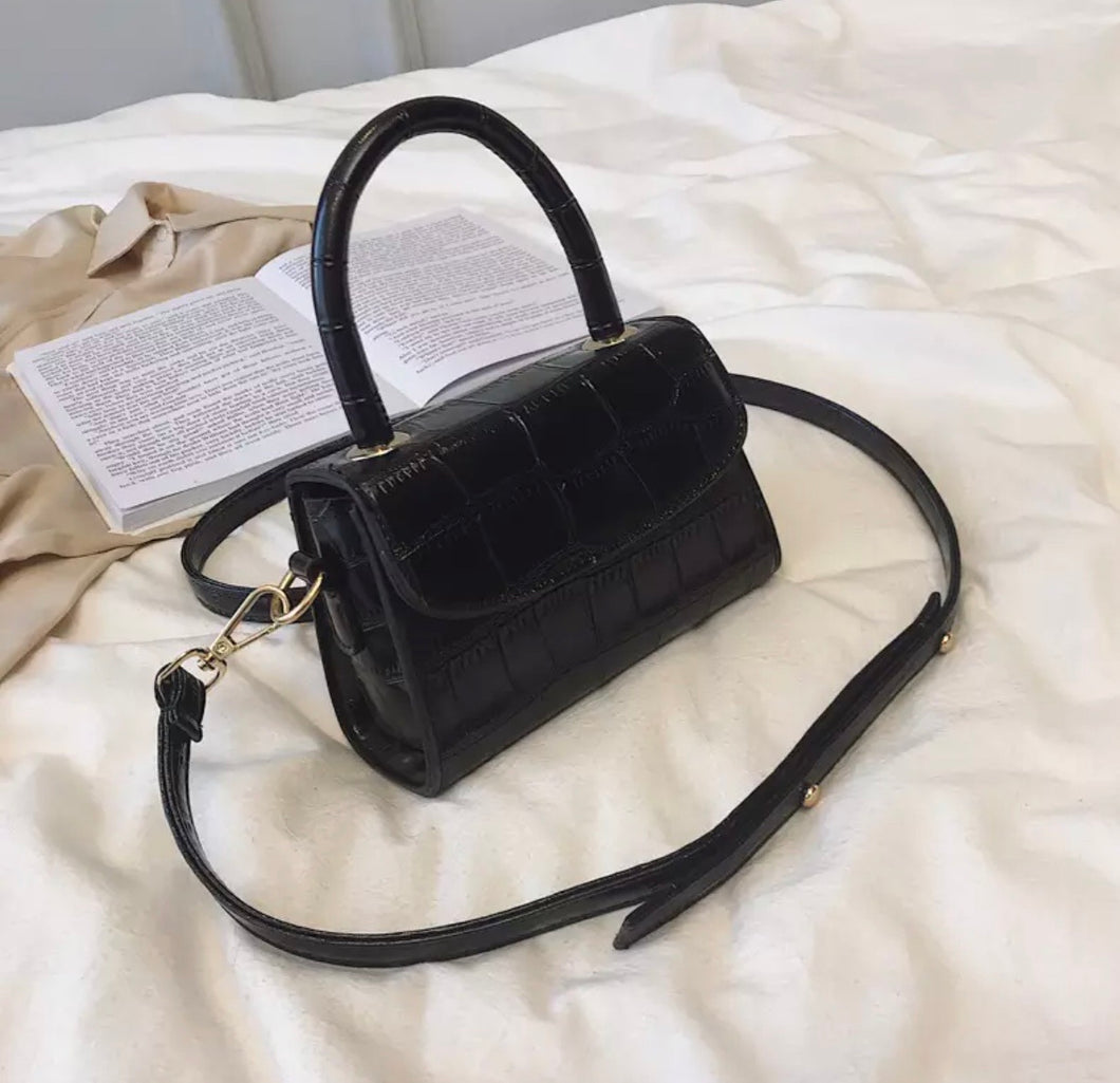 Black Alligator Handbag