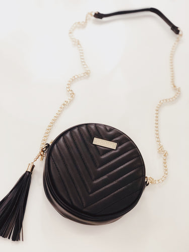 Round Tassel Shoulder Bag