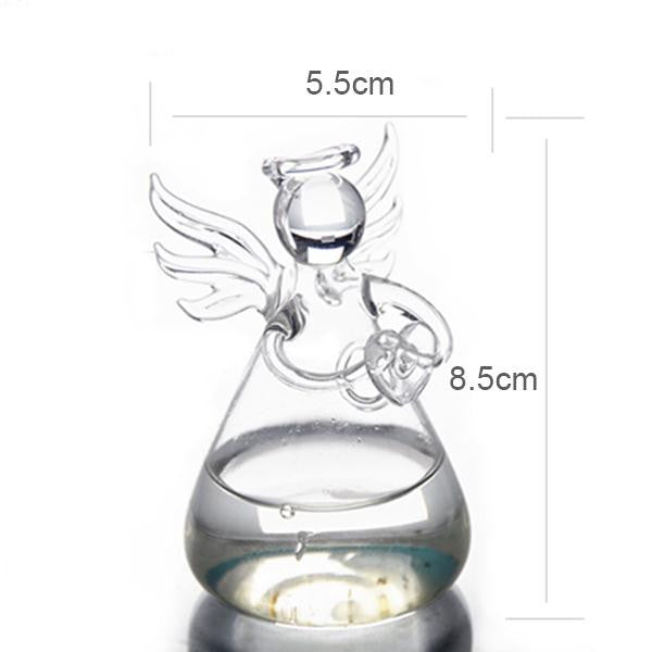 Clear Glass Angel Shape Standing Vase - The MOJO