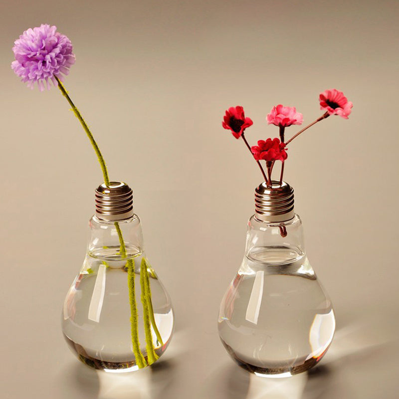Clear Glass Bulb Shaped Standing Vase - The MOJO