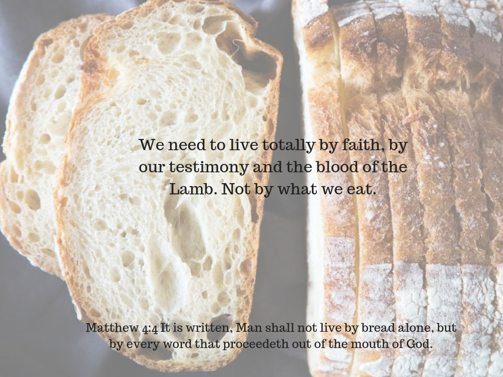 The Word of the Lord is our Healing. He is the Bread of Life