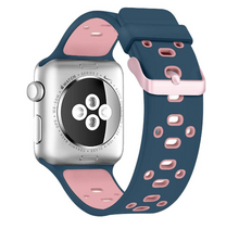 Copy of Active Silicone Apple Watch Band (Blue/Pink)