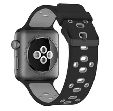 Copy of Active Silicone Apple Watch Band (Black/Gray)