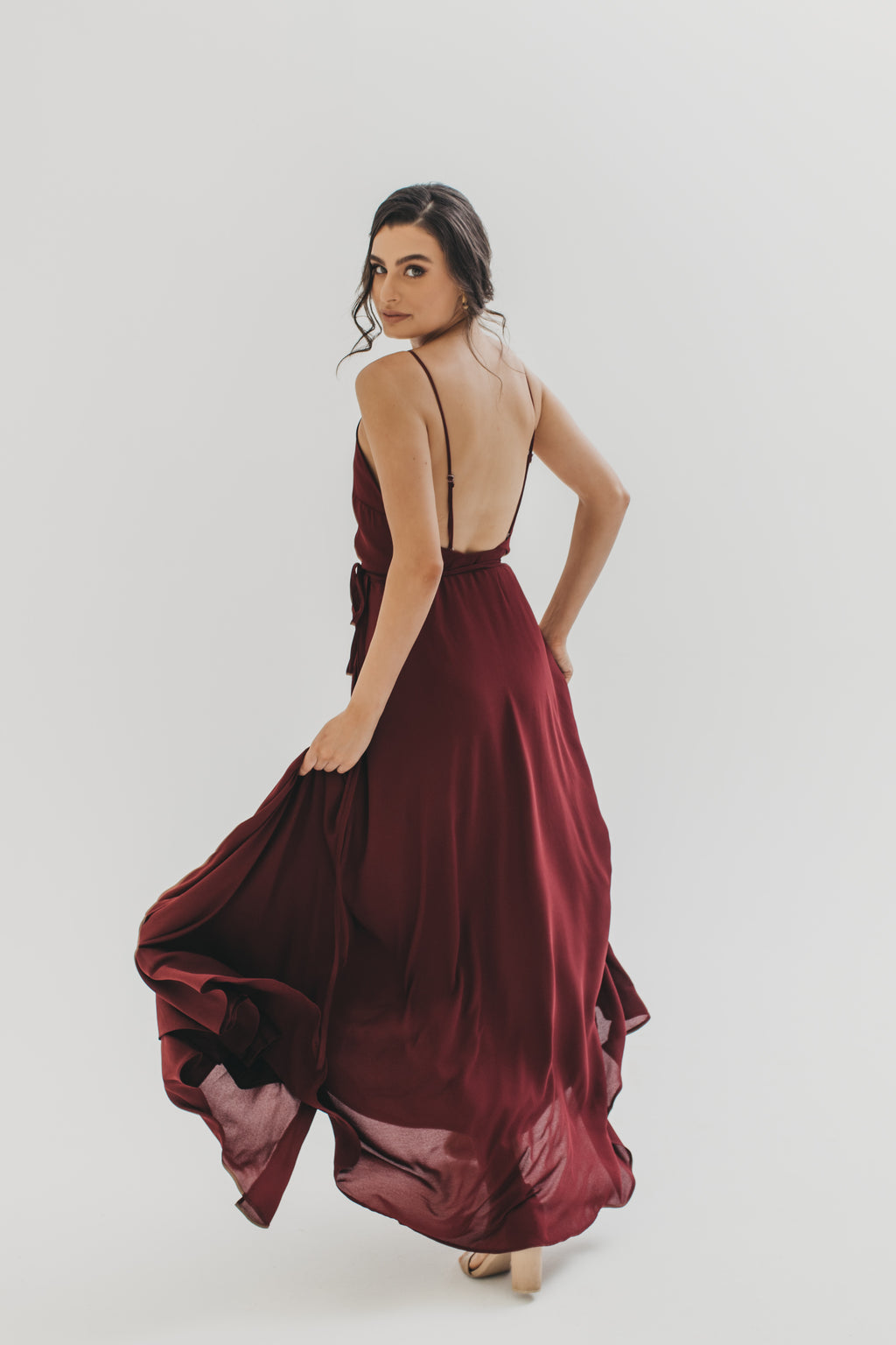 Georgie Wrap Dress - Burgundy