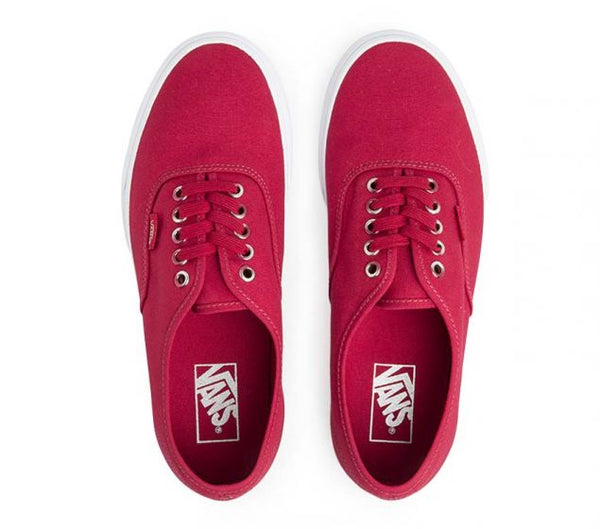 vans authentic crimson